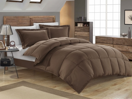 Chocolate Down Alternative Comforter Set