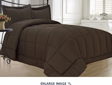 Chocolate Down Alternative Comforter Set Full/Queen
