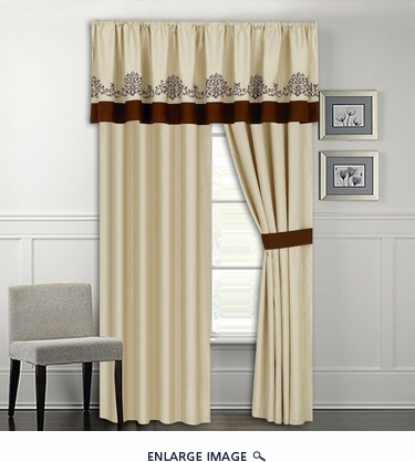 Coloma Embroidered Curtain Set