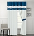 Cremon Diva Blue and White Curtain Set