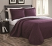Cressida Plum/Gray Reversible Bedspread/Quilt Set Queen