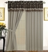 Cristen Jacquard Curtain Set w/ Tassels / Sheers