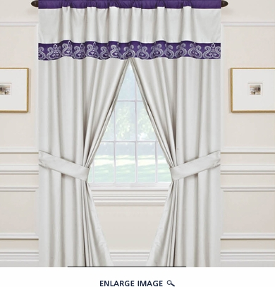 Dacia Curtain Set w/ Valance/ Tiebacks / Sheers