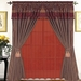 Darcy Patchwork Curtain Set Burgundy