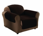 Dark Brown Micro Suede Chair Protector