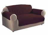 Dark Brown Micro Suede Loveseat Protector