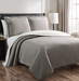Demi Gray/White Reversible Bedspread/Quilt Set King