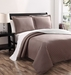 Demi Stone/Spa Reversible Bedspread/Quilt Set Queen