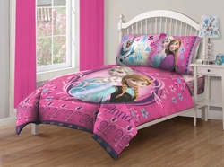 Disney Frozen Nordic Florals Full Comforter Set with Fitted Sheet