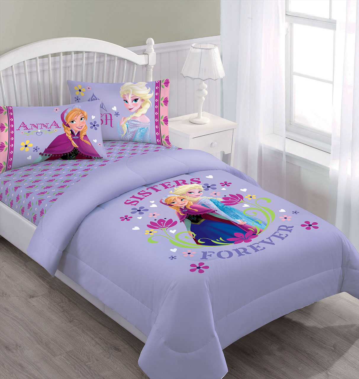 Disney Frozen Nordic Summer Florals Comforter Set With
