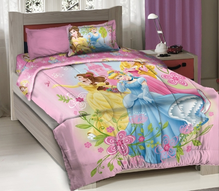 Disney Princess Royal Gardens Licensed Full Bedding Comforter Set