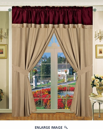 Emoji Curtain Set w/ Valance/ Tiebacks / Sheers