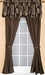 Eva Jacquard Curtain Set w/ Valance/ Tiebacks / Sheers