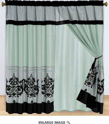 Florina Aqua and BlackCurtain Set