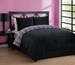 Full Forever Young Naima Comforter Set Black/Hot Pink/Aqua