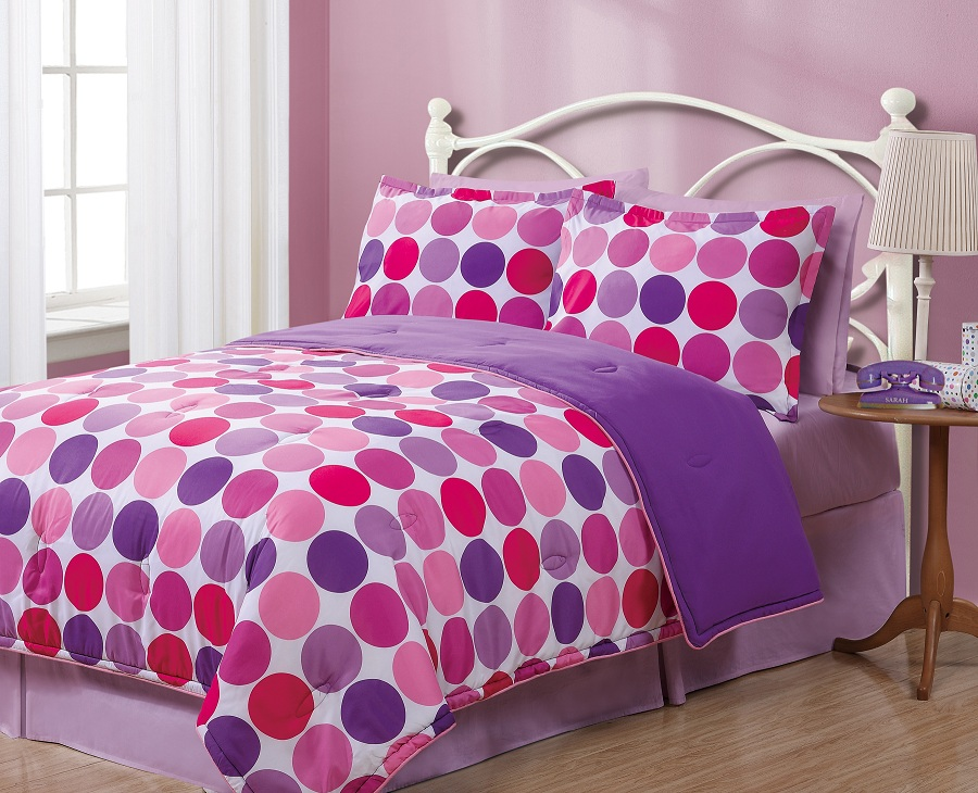 Full Geo Circles Reversible Comforter Set
