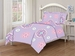 Full Microfiber Kids Folk Floral Bedding Comforter Set