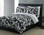Full Microfiber Kids Optic Camouflage Bedding Comforter Set Black