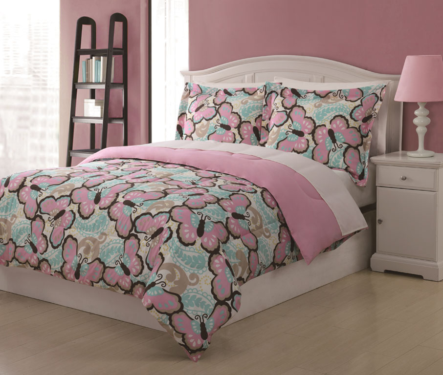 Pics Photos - Set Full Size Comforter Butterfly Bedding Sets 6pcs Home ...