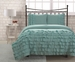 Full Miley Mini Ruffle Comforter Set Aqua
