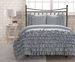 Full Miley Mini Ruffle Comforter Set Blue