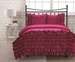 Full Miley Mini Ruffle Comforter Set Pink
