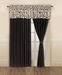 Gianna Curtain Set Chocolate
