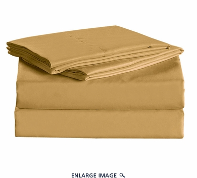 Gold Micro Fiber 1600TC Sheet Set Queen