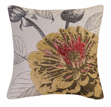 Gold Rose Decorative Square Throw Pillow 18