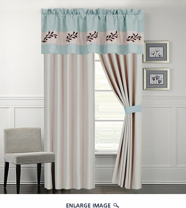 Hana Sky Blue Curtain Set