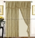 Imperial Gold Curtains  w/ Valance/ Tassels / Sheers