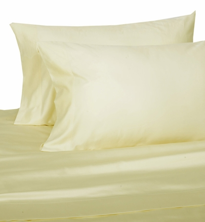Ivory Hotel 600 Thread Count Cotton Sateen Pillowcases King