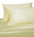 Ivory Hotel 600 Thread Count Cotton Sateen Pillowcases Standard/Queen