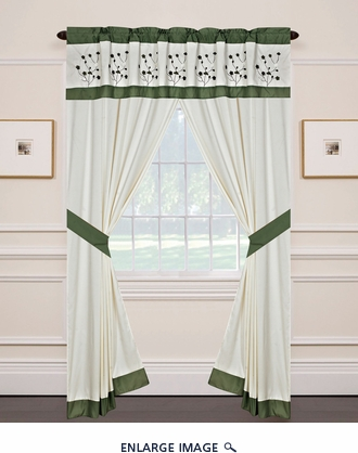Jade Curtain Set w/ Valance/ Tiebacks / Sheers