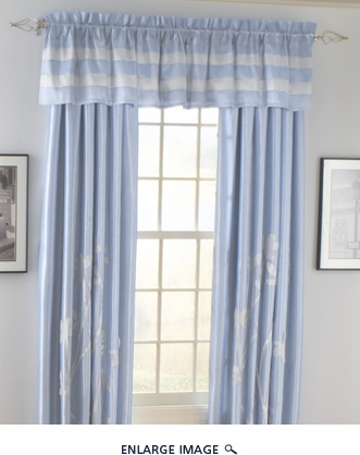 Jardin Curtain Set w/ Tassels / Sheers Blue