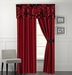 Jayda Burguandy and Black Curtain Set