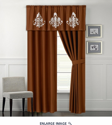 Joshwa Embroidered Curtain Set