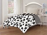 Juvenile Reversible Flowers Comforter Twin