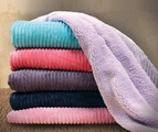 Kendall Plum Reversible Sherpa Throw