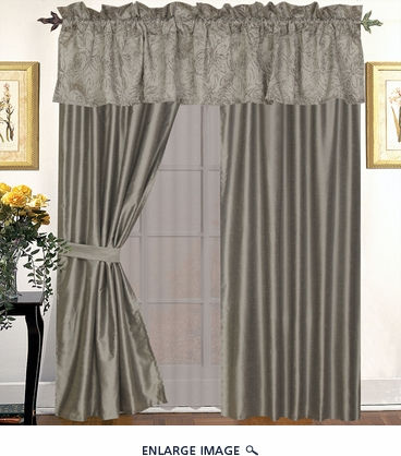 Lacey Curtain Set w/ Tassels / Sheers