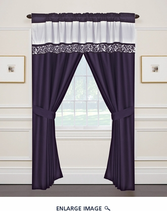 Lafayette Curtain Set w/ Valance/ Tiebacks / Sheers