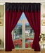 Laurel Curtain Set w/ Valance/ Tiebacks / Sheers