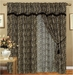 Leopard Animal Kingdom Curtain Set w/ Valance/Sheer/Tassels