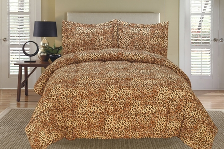 Leopard Down Alternative Comforter Set