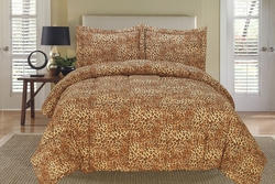 Leopard Down Alternative Comforter Set Twin