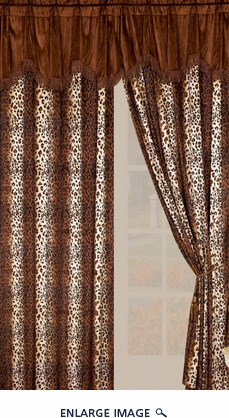 Leopard Micro Fur Curtain Set