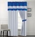 Linnea Blue Curtain Set