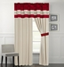 Lynsey Burgundy and Beige Curtain Set