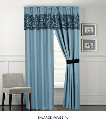 Madelyn Blue Curtain Set