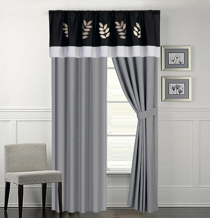 Mansforth Embroidered Curtain Set